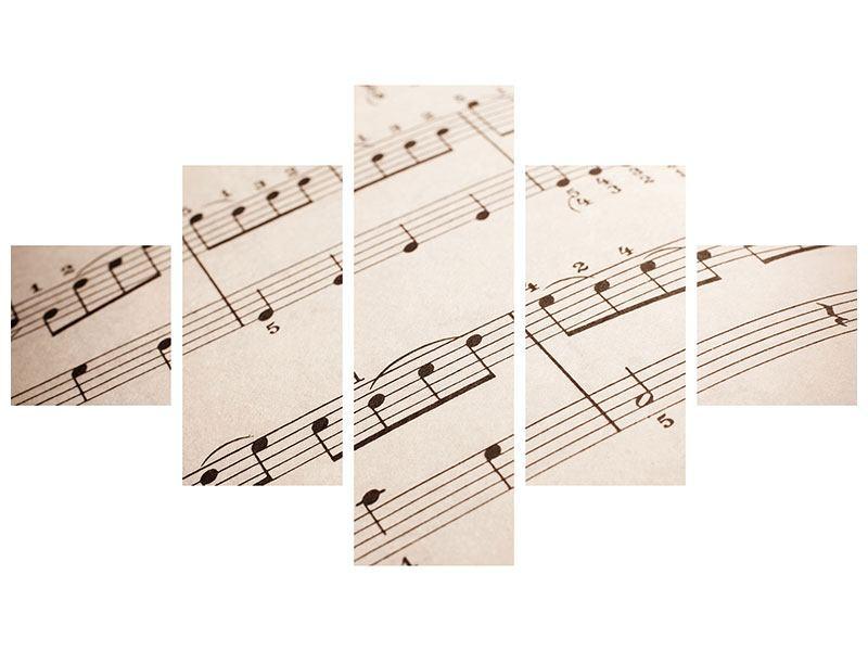 Acrylglasbild 5-teilig Das Notenblatt