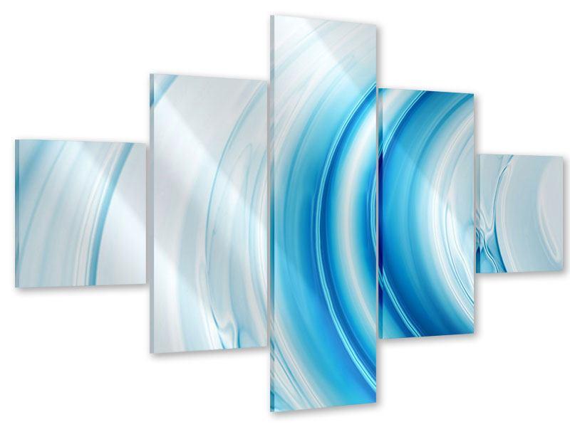 Acrylglasbild 5-teilig Abstraktes Glas
