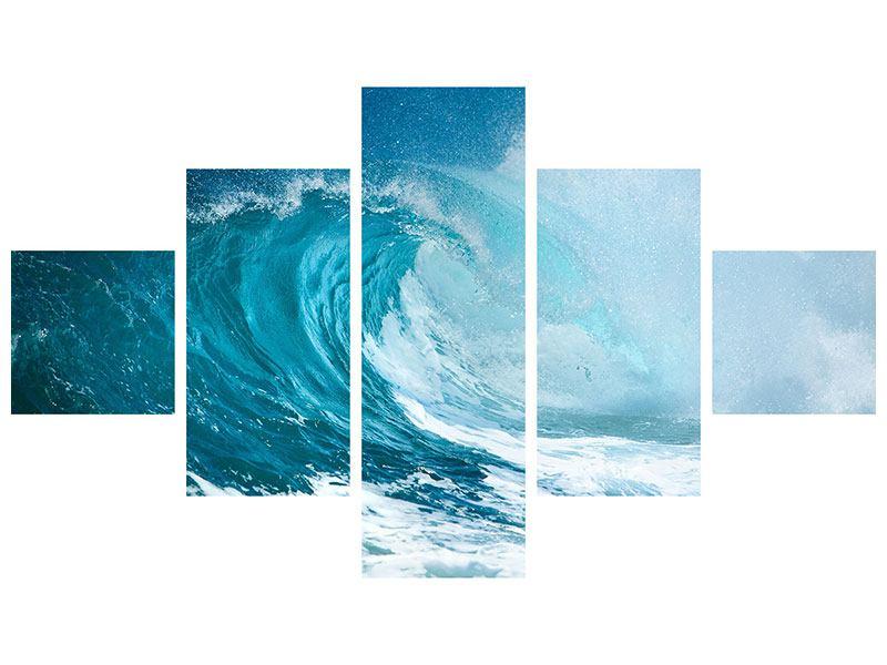 Acrylglasbild 5-teilig Die perfekte Welle
