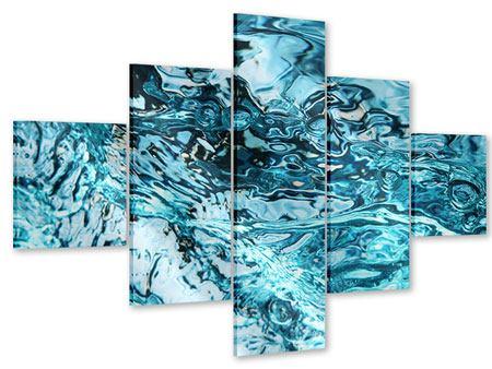 Acrylglasbild 5-teilig Schönheit Wasser