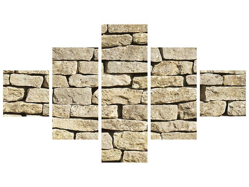 Acrylglasbild 5-teilig Alte Mauer