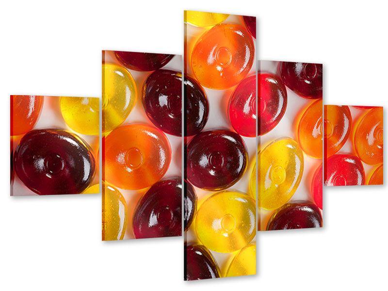 Acrylglasbild 5-teilig Bonbons
