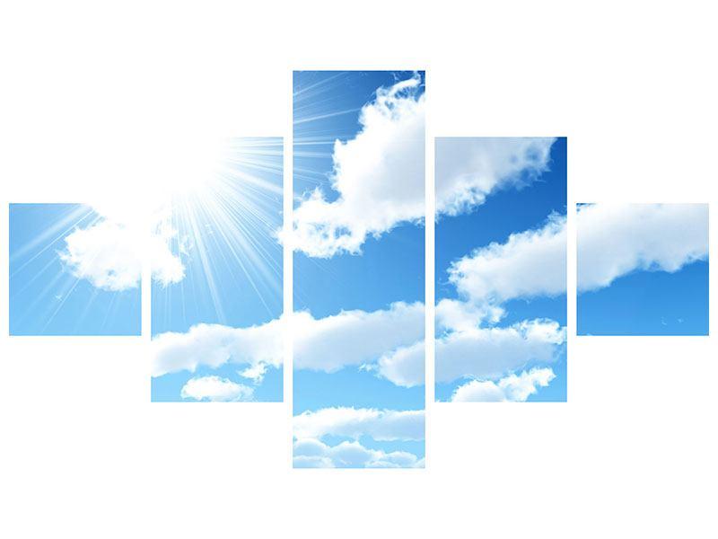Acrylglasbild 5-teilig Am Himmel