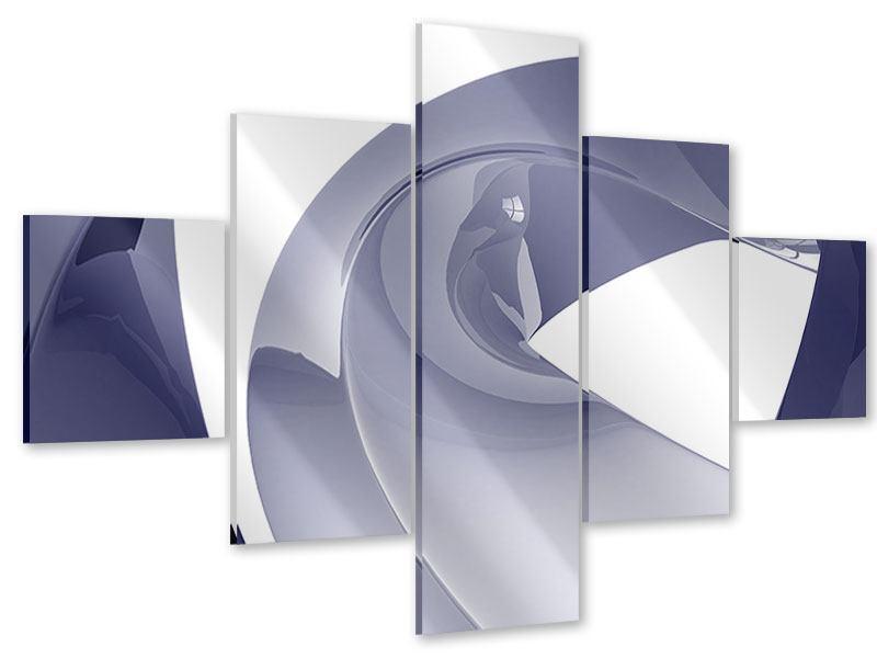 Acrylglasbild 5-teilig Abstrakte Schwingungen
