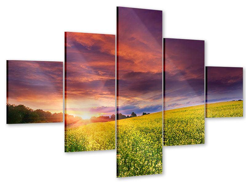 Acrylglasbild 5-teilig Abenddämmerung