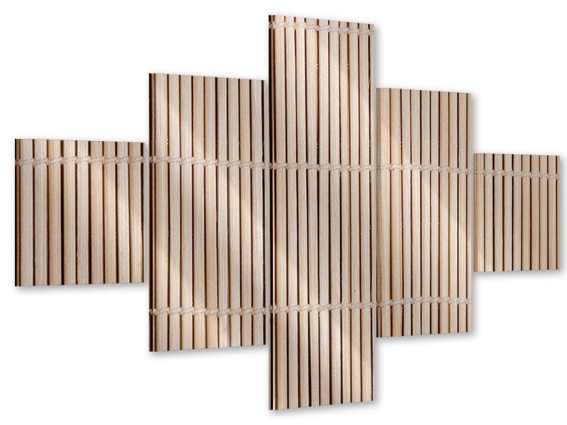 Acrylglasbild 5-teilig Lucky Bamboo