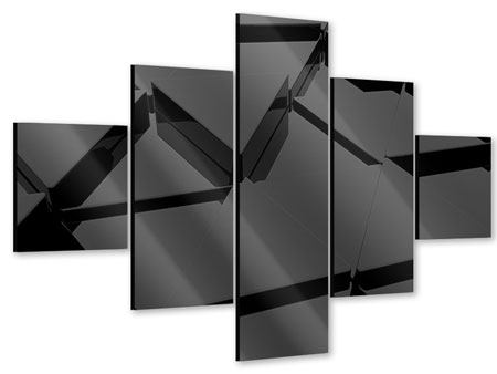 Acrylglasbild 5-teilig 3D-Dreiecksflächen