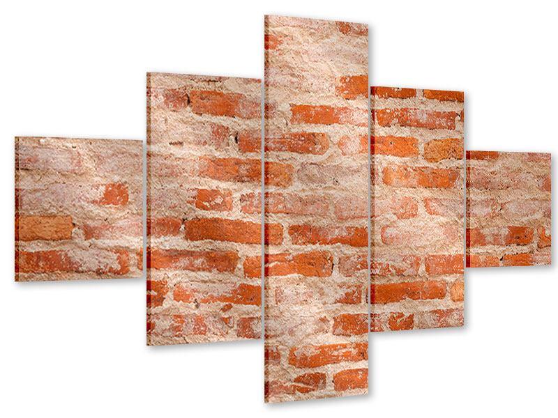 Acrylglasbild 5-teilig Mauerwerk