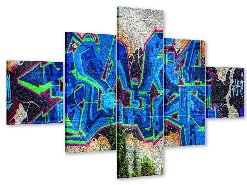 Acrylglasbild 5-teilig Graffiti NYC