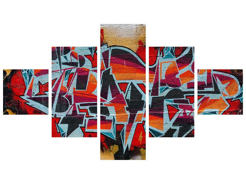 Acrylglasbild 5-teilig New York Graffiti