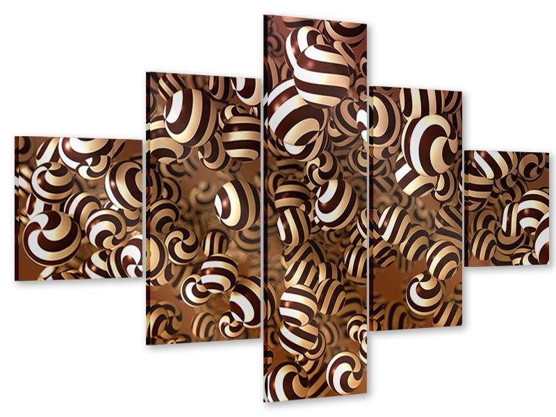 Acrylglasbild 5-teilig Schokoladen-Bonbons