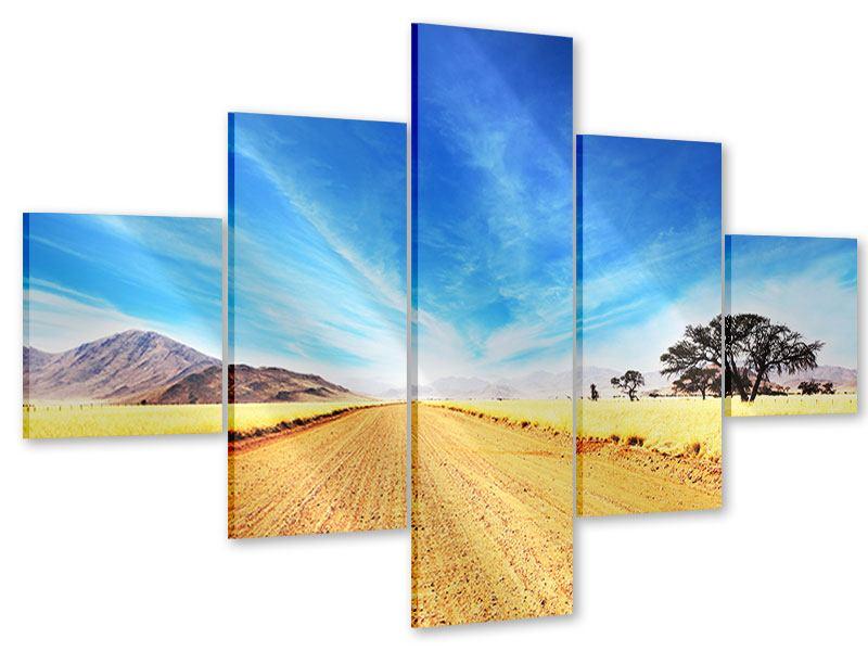 Acrylglasbild 5-teilig Eine Landschaft in Afrika