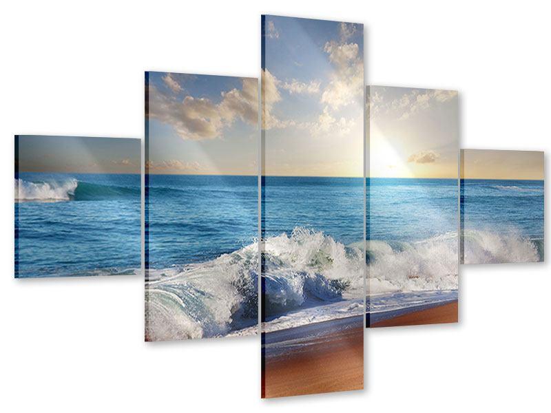 Acrylglasbild 5-teilig Die Wellen des Meeres