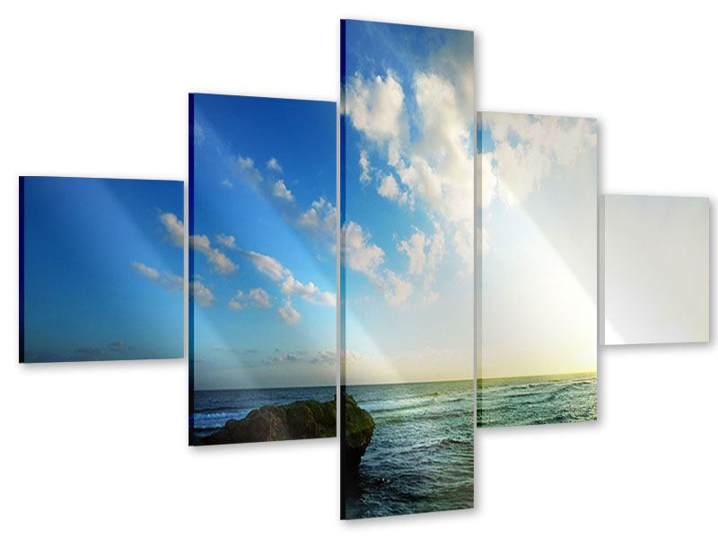 Acrylglasbild 5-teilig Die See