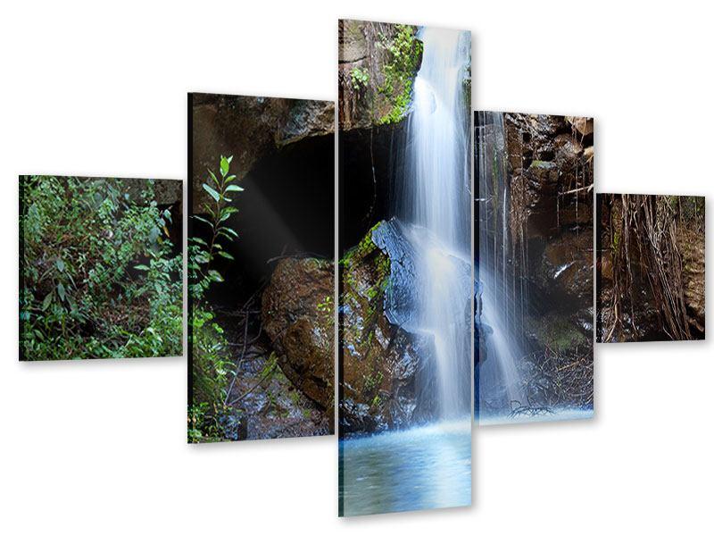 Acrylglasbild 5-teilig Die blaue Lagune