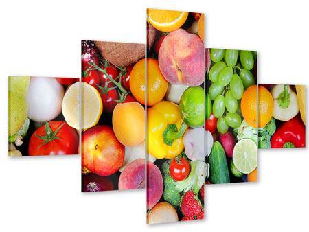 Acrylglasbild 5-teilig Frisches Obst