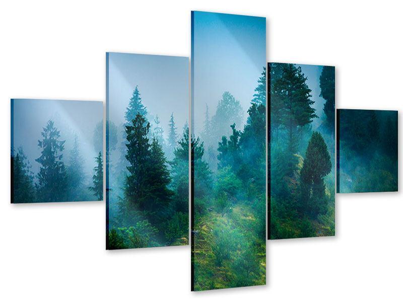 Acrylglasbild 5-teilig Geheimnisvoller Wald