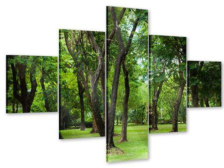 Acrylglasbild 5-teilig Kirschbaum-Garten