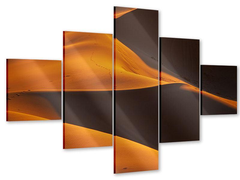 Acrylglasbild 5-teilig Wüstensand