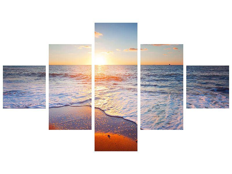 Acrylglasbild 5-teilig Sonnenuntergang am Horizont
