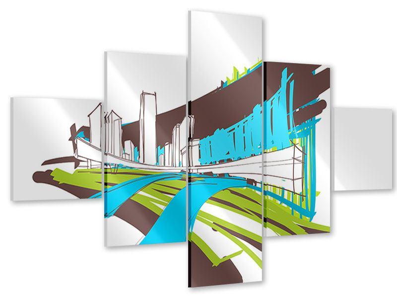 Acrylglasbild 5-teilig Graffiti Street-Art