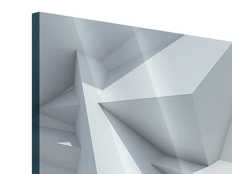 Acrylglasbild 5-teilig 3D-Kristallo