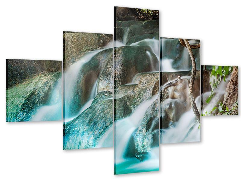 Acrylglasbild 5-teilig Am Fluss des Lebens