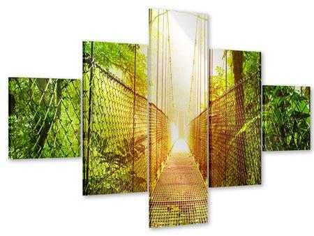 Acrylglasbild 5-teilig Hängebrücke
