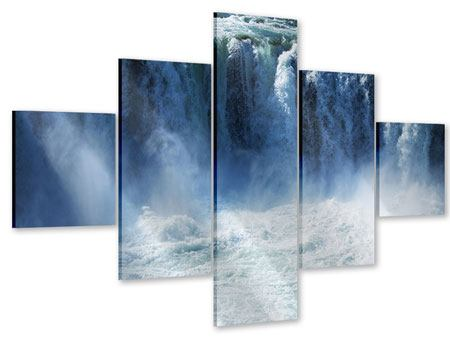 Acrylglasbild 5-teilig Mächtiger Wasserfall