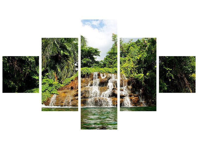 Acrylglasbild 5-teilig Lagune