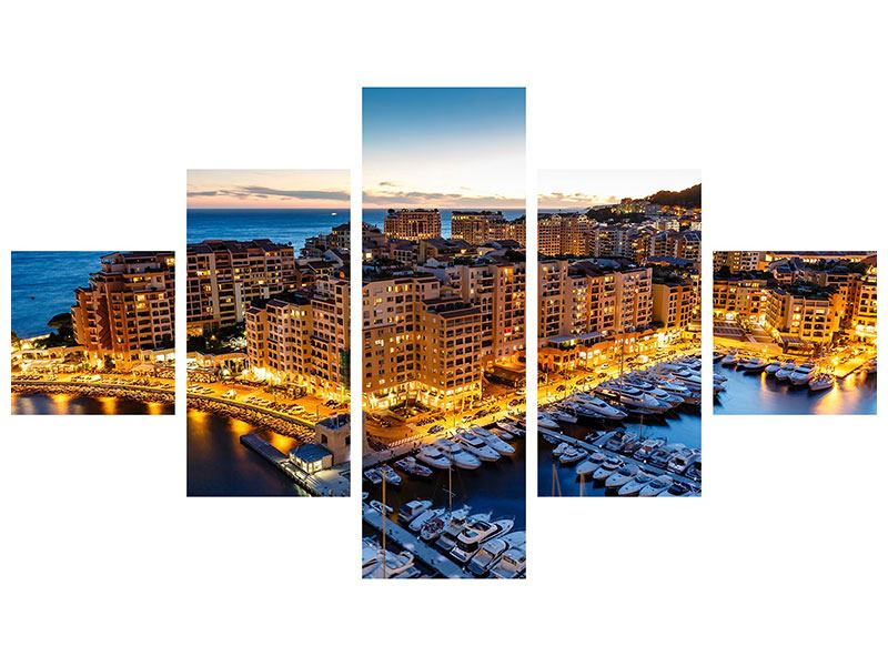 Acrylglasbild 5-teilig Monaco