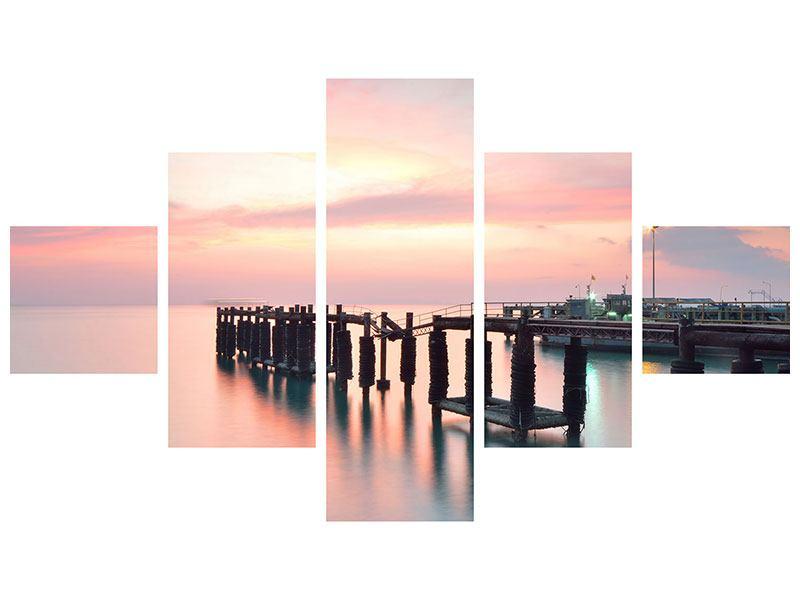 Acrylglasbild 5-teilig Der beruhigende Sonnenuntergang
