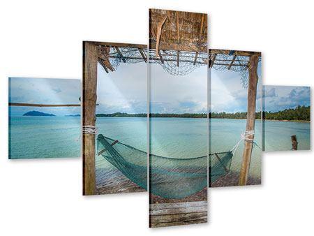 Acrylglasbild 5-teilig Hängematte
