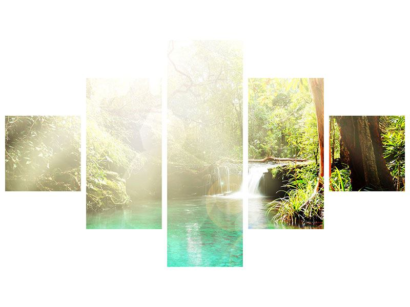 Acrylglasbild 5-teilig Die grüne Lagune