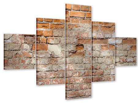 Acrylglasbild 5-teilig Alte Klagemauer
