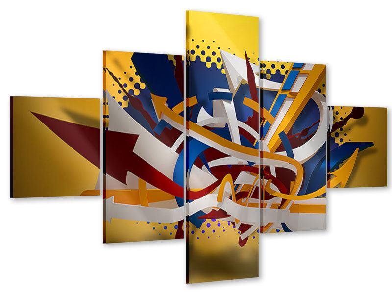 Acrylglasbild 5-teilig Graffiti Art