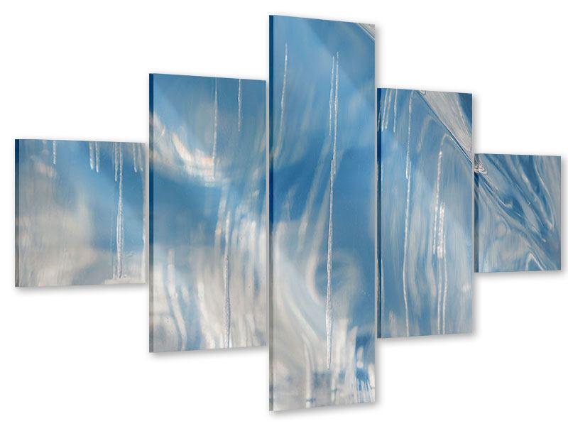Acrylglasbild 5-teilig Das Eis des Baikalsees