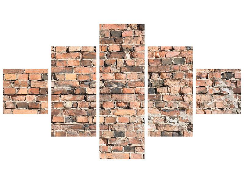 Acrylglasbild 5-teilig Alte Backsteinmauer