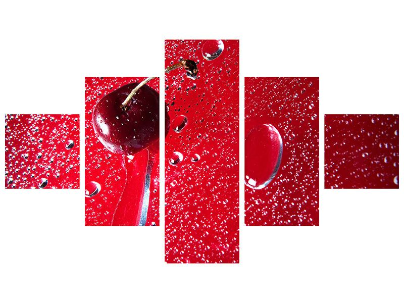 Acrylglasbild 5-teilig Die Kirsche