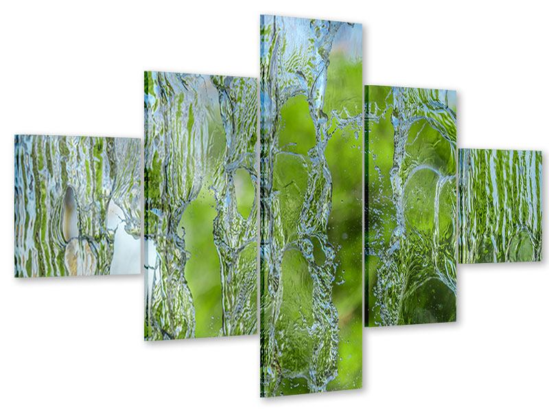 Acrylglasbild 5-teilig Hinter dem Wasserfall