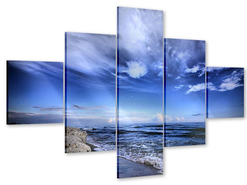 Acrylglasbild 5-teilig Strandwellen