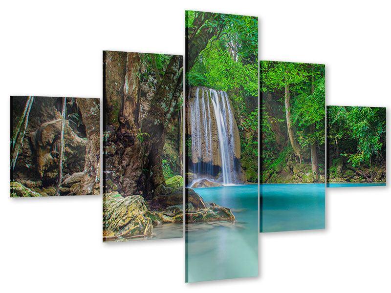 Acrylglasbild 5-teilig Fliessgewässer