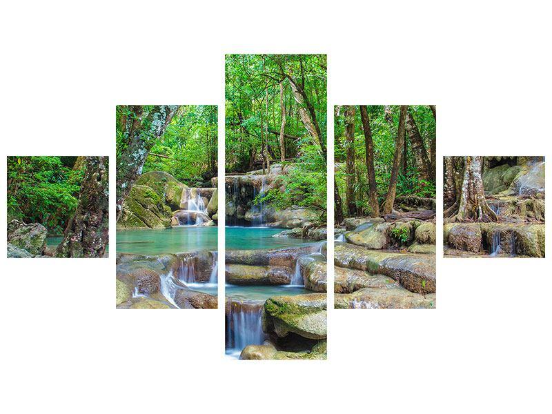 Acrylglasbild 5-teilig Wasserspektakel