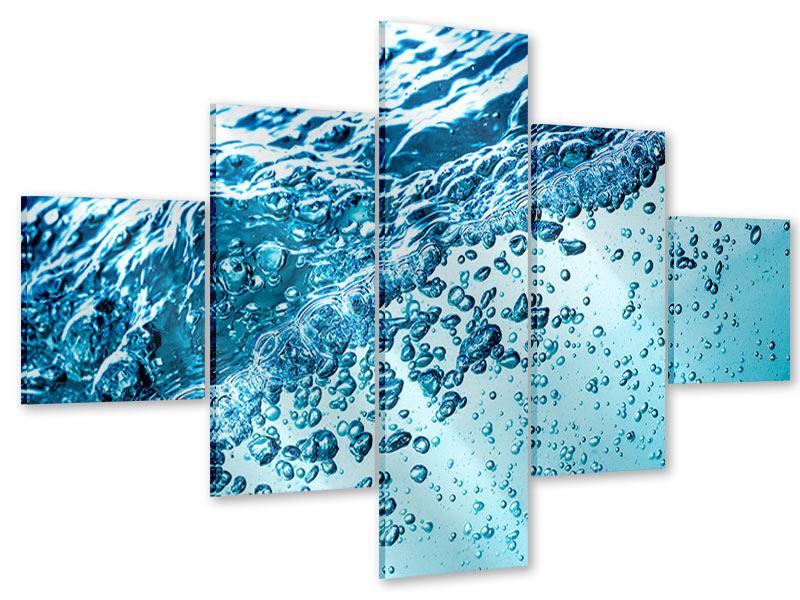 Acrylglasbild 5-teilig Wasser in Bewegung