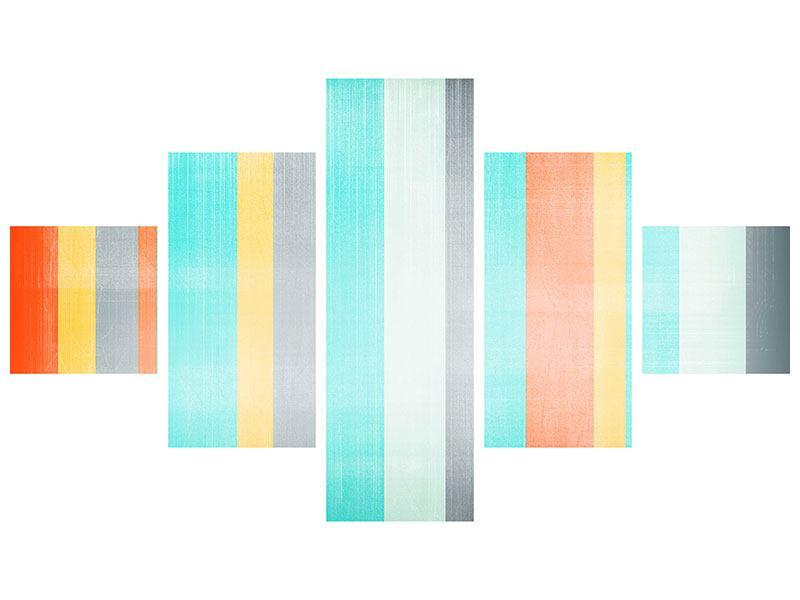 Acrylglasbild 5-teilig Grunge Streifen