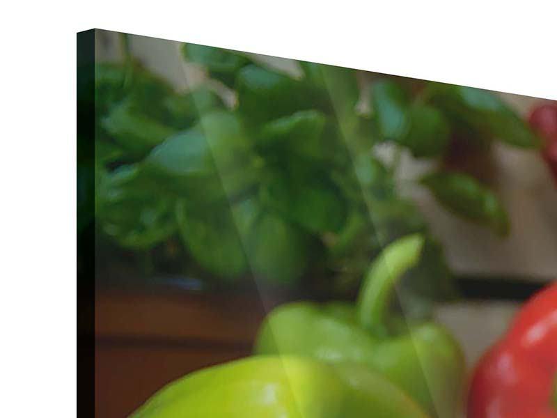 Acrylglasbild 5-teilig Mediterranes Gemüse