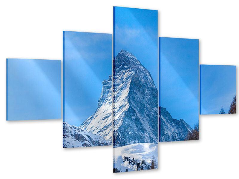 Acrylglasbild 5-teilig Das majestätische Matterhorn