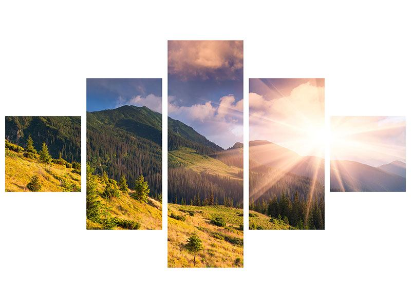 Acrylglasbild 5-teilig Herbstanfang