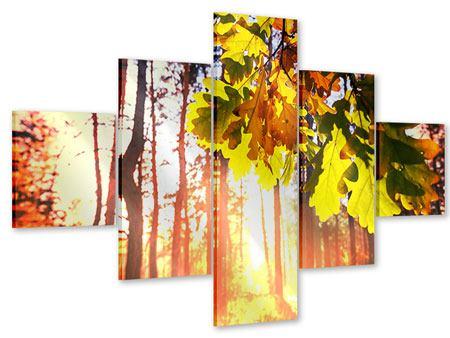 Acrylglasbild 5-teilig Herbst