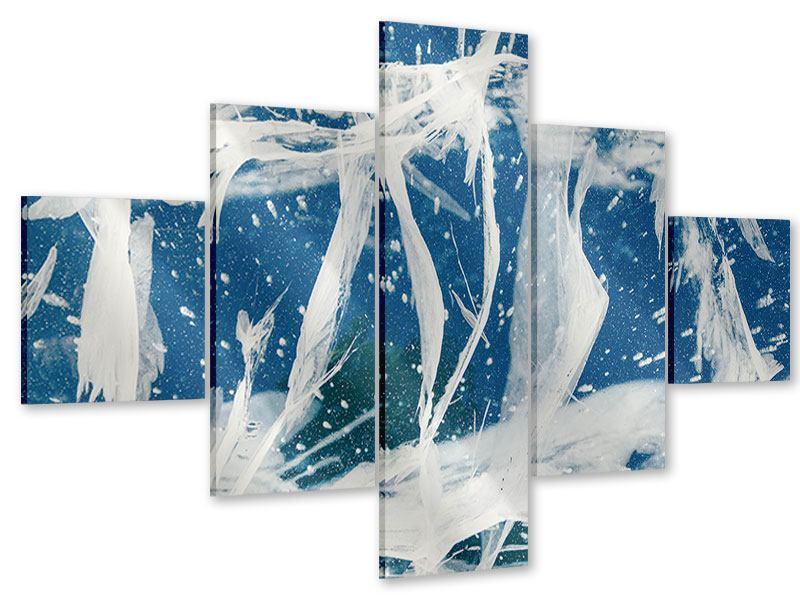 Acrylglasbild 5-teilig Eiskristalle